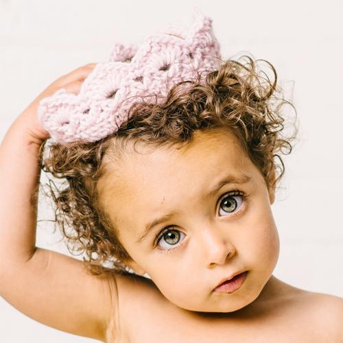 Pink Knit Crown