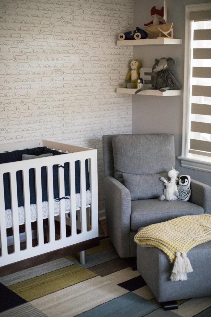 Modern Navy and Gray Nursery - Project Nursery