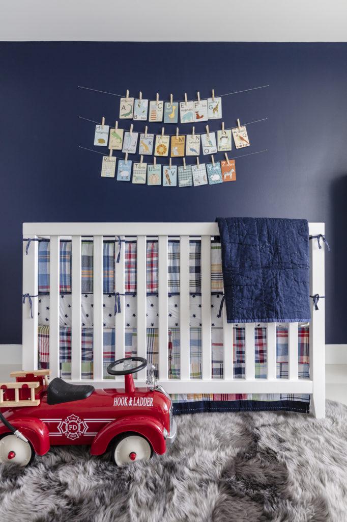 Traditional Navy Blue Boys Nursery - Project Nursery