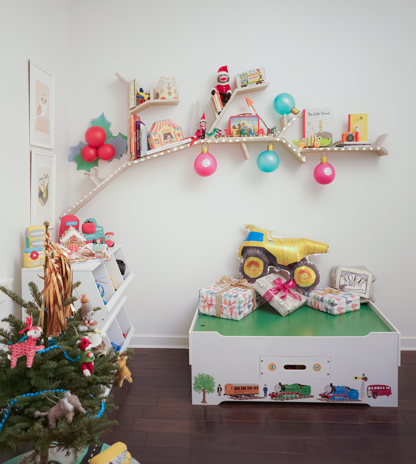 Playroom Decorated for Christmas
