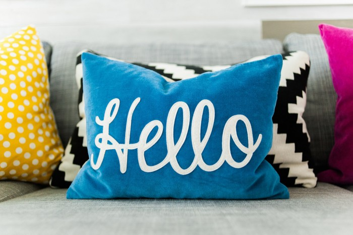 Hello Throw Pillow from The Land of Nod