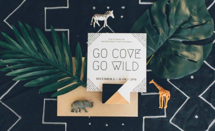 Modern Jungle Birthday Party Invitation - Project Nursery