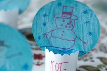 DIY Paper Snow Globe Place Cards