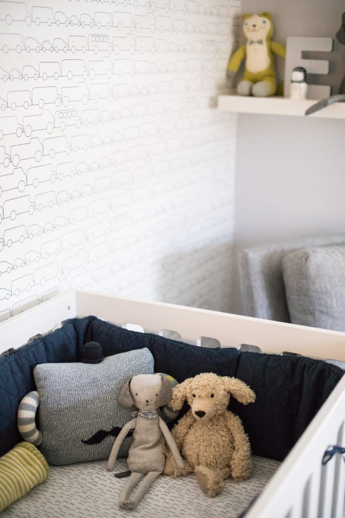 Modern Navy and Gray Nursery with Whimsical Accents - Project Nursery
