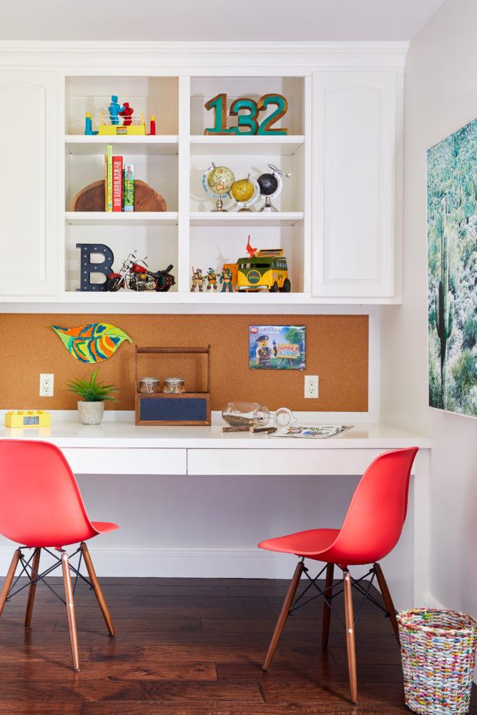 Colorful Big Kid Room Desk and Art Table
