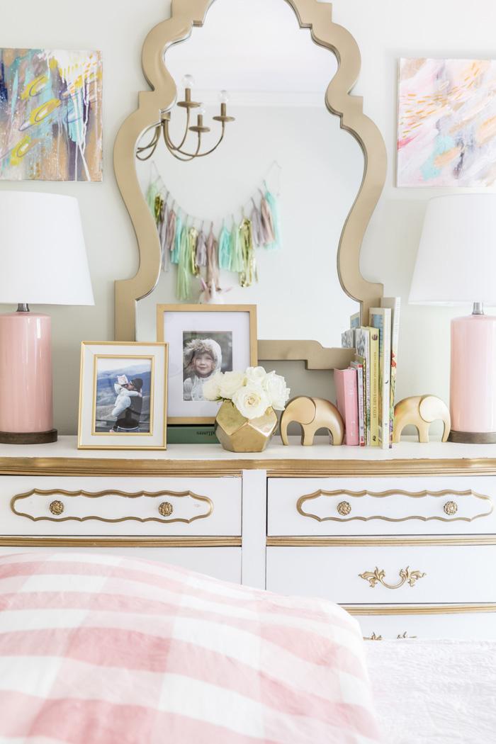 Vintage Dresser in Vintage Floral Big Girl's Room