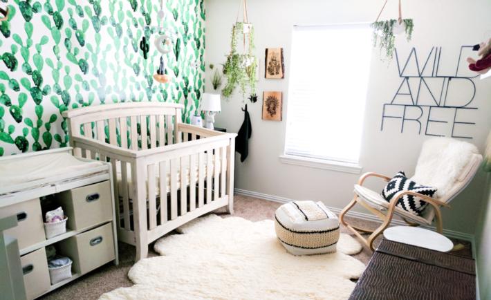 Boho Cactus Wallpaper Nursery