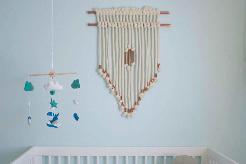 DIY Copper Pipe and Chunky Yarn Nursery Wall Hanging - Project Nursery