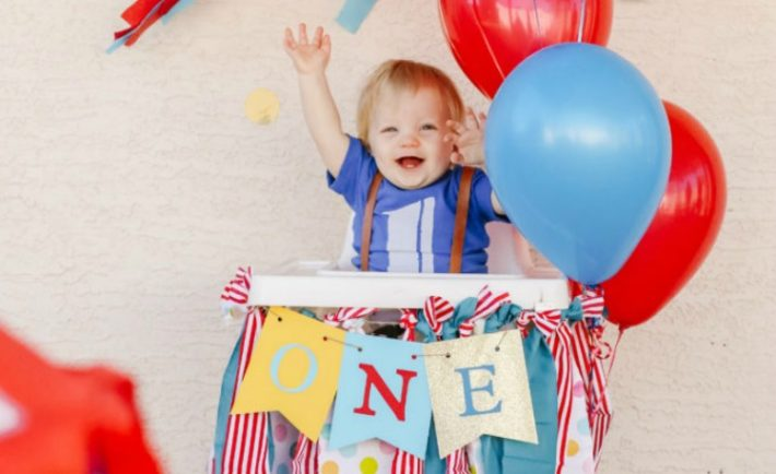 Circus-Themed Birthday Party First Birthday Party Ideas - Project Nursery