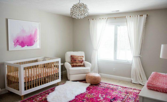 Feminine Girls Nursery with Pops of Bright Pink - Project Nursery