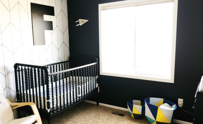 Black and White Geometric Nursery