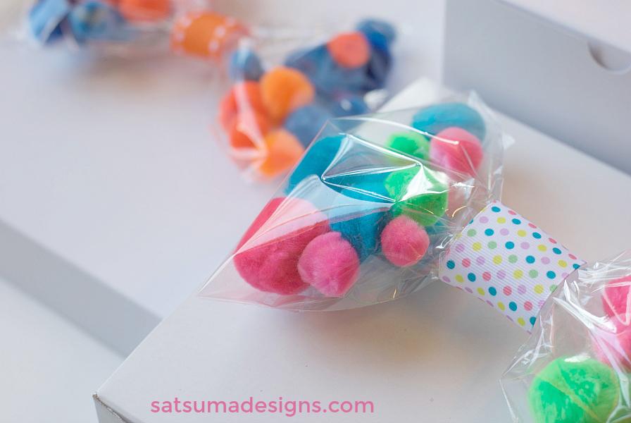 DIY Pom Pom Gift Bows