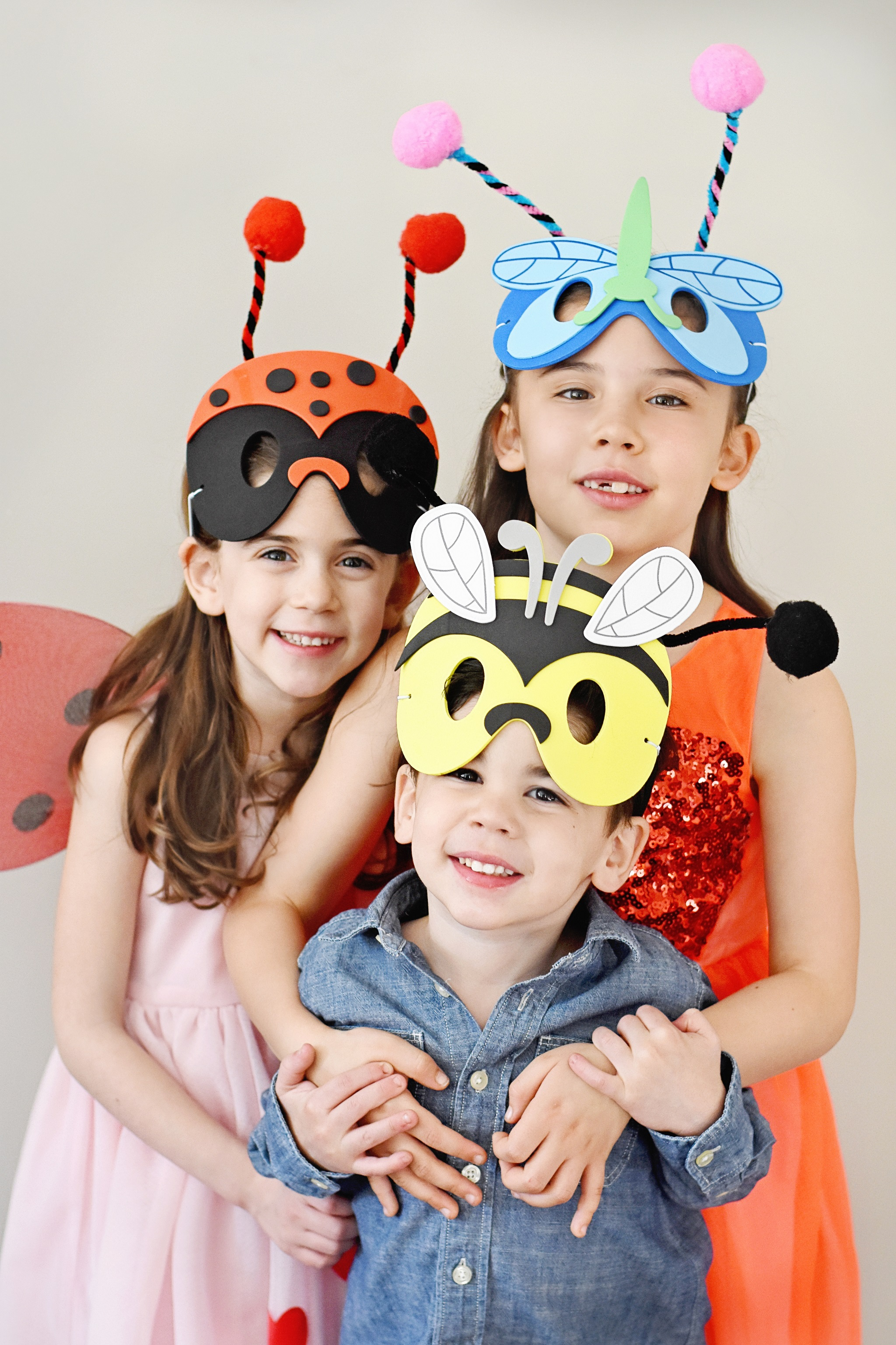 Love Bug Valentine's Day Party for Kids Bug Masks