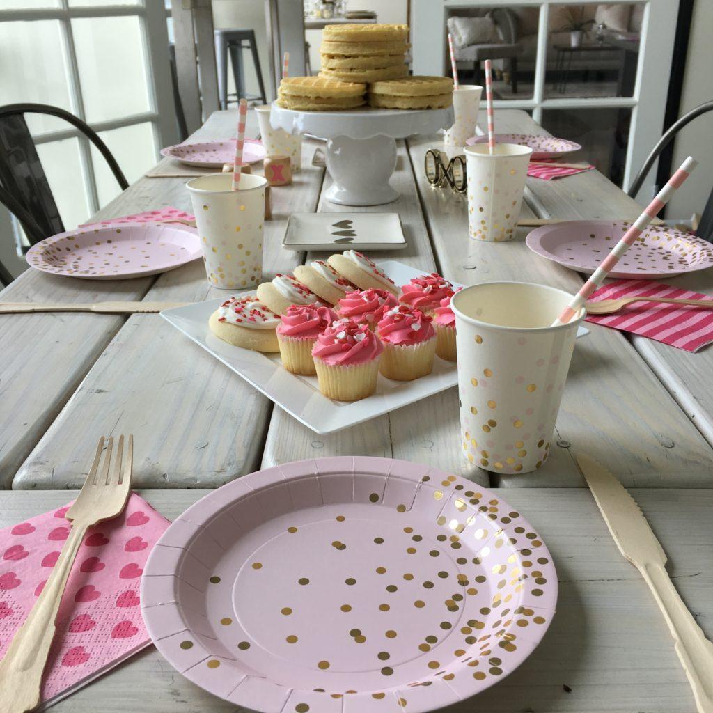 Pink & Gold Confetti Baby Shower Brunch