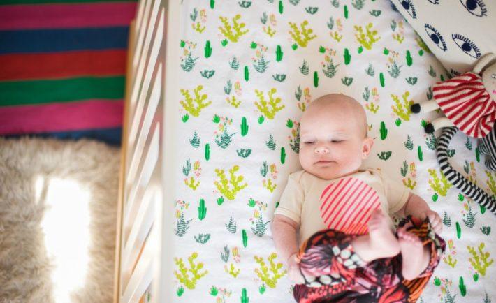 Whimsical Nursery with Cactus Crib Sheet - Project Nursery