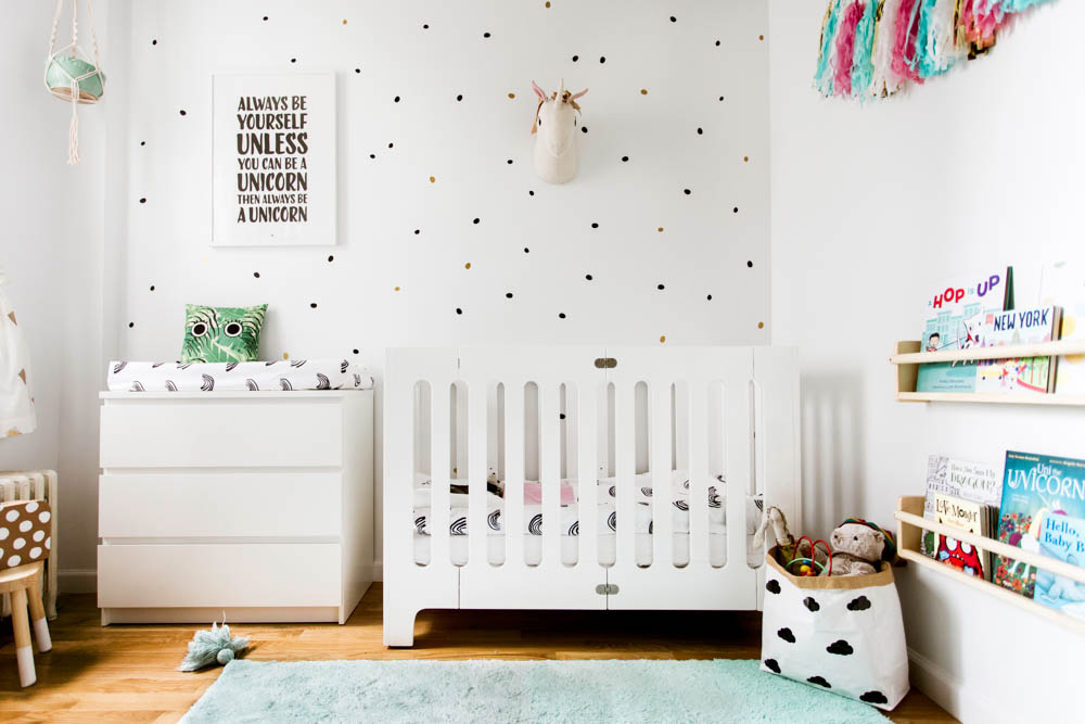 Tiny Nursery with Unicorns and Rainbows