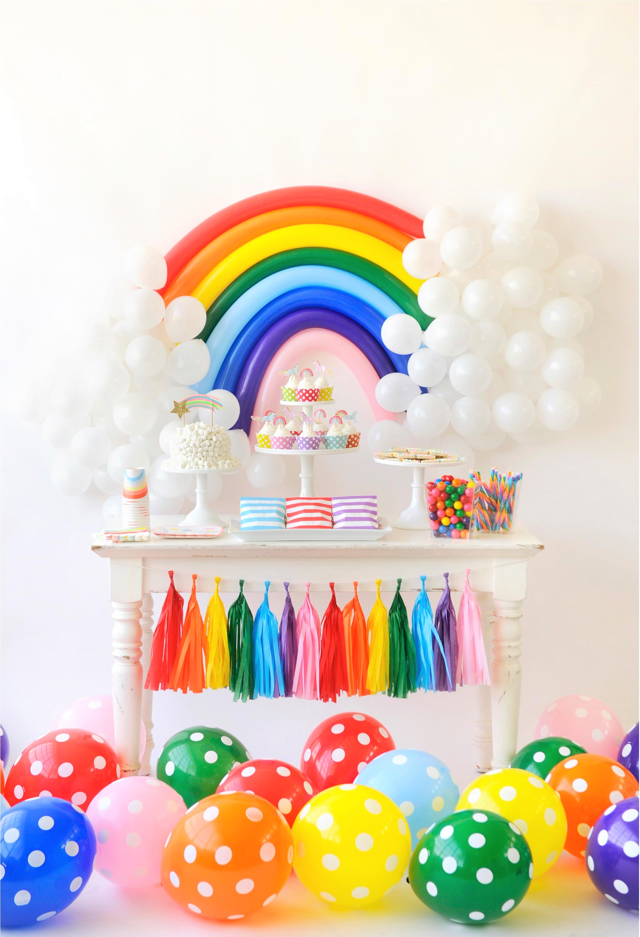rainbow birthday Over the Rainbow Birthday Party for Kids   Project Nursery rainbow birthday