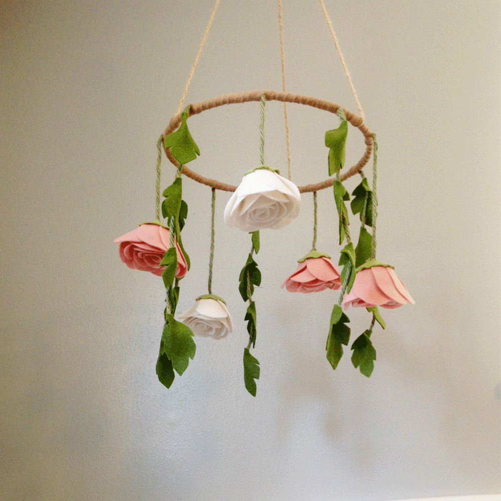 We Re Falling Hard For Floral Wreath Mobiles Project Nursery