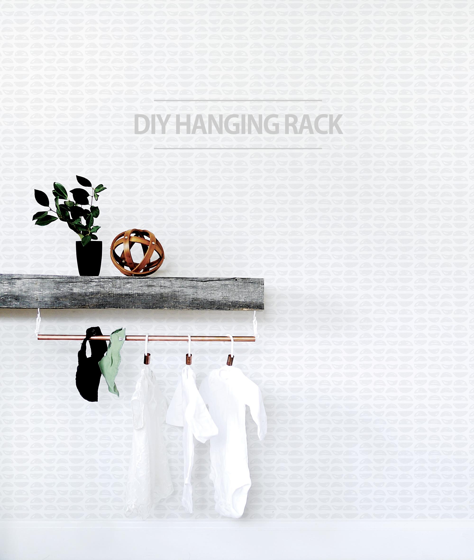 DIY Hanging Rack for the Nursery Copper Pipe DIY Hanging Organizer