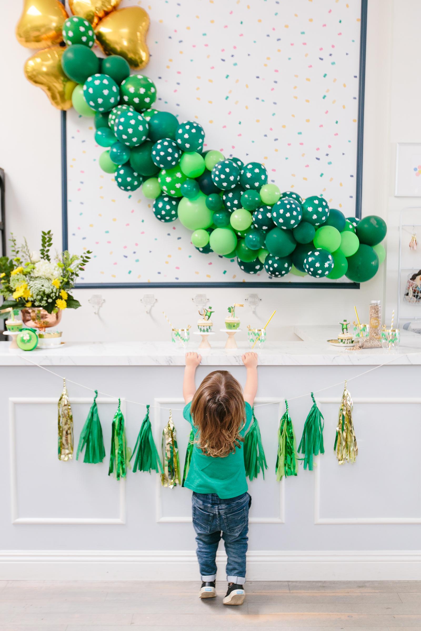St. Patrick's Day Balloon Garland