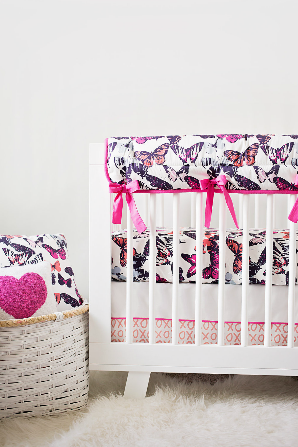 Project Nursery x Carousel Designs Butterfly Kisses Crib Bedding