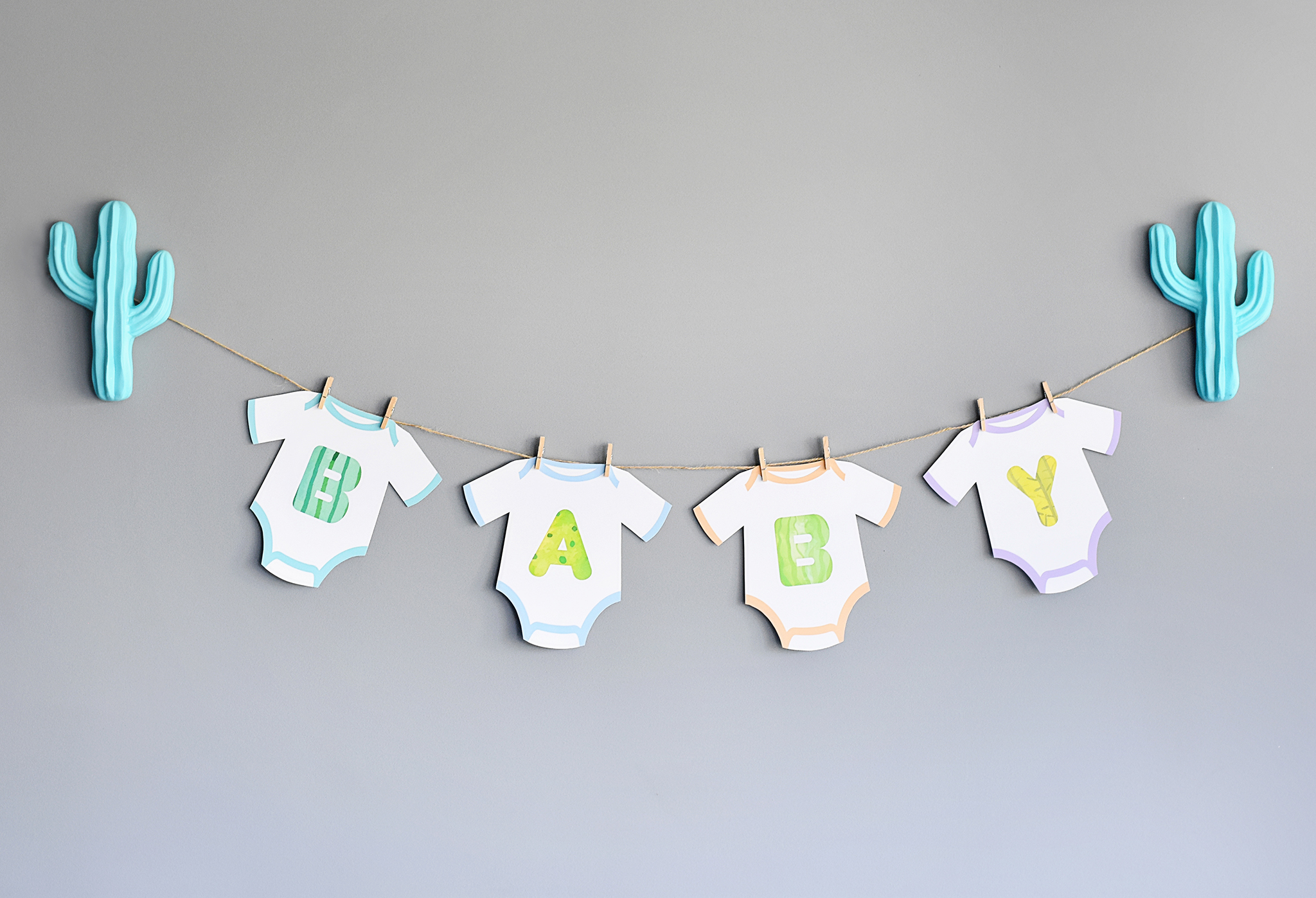 Cactus Onesie Baby Shower Baby Banner - Project Nursery