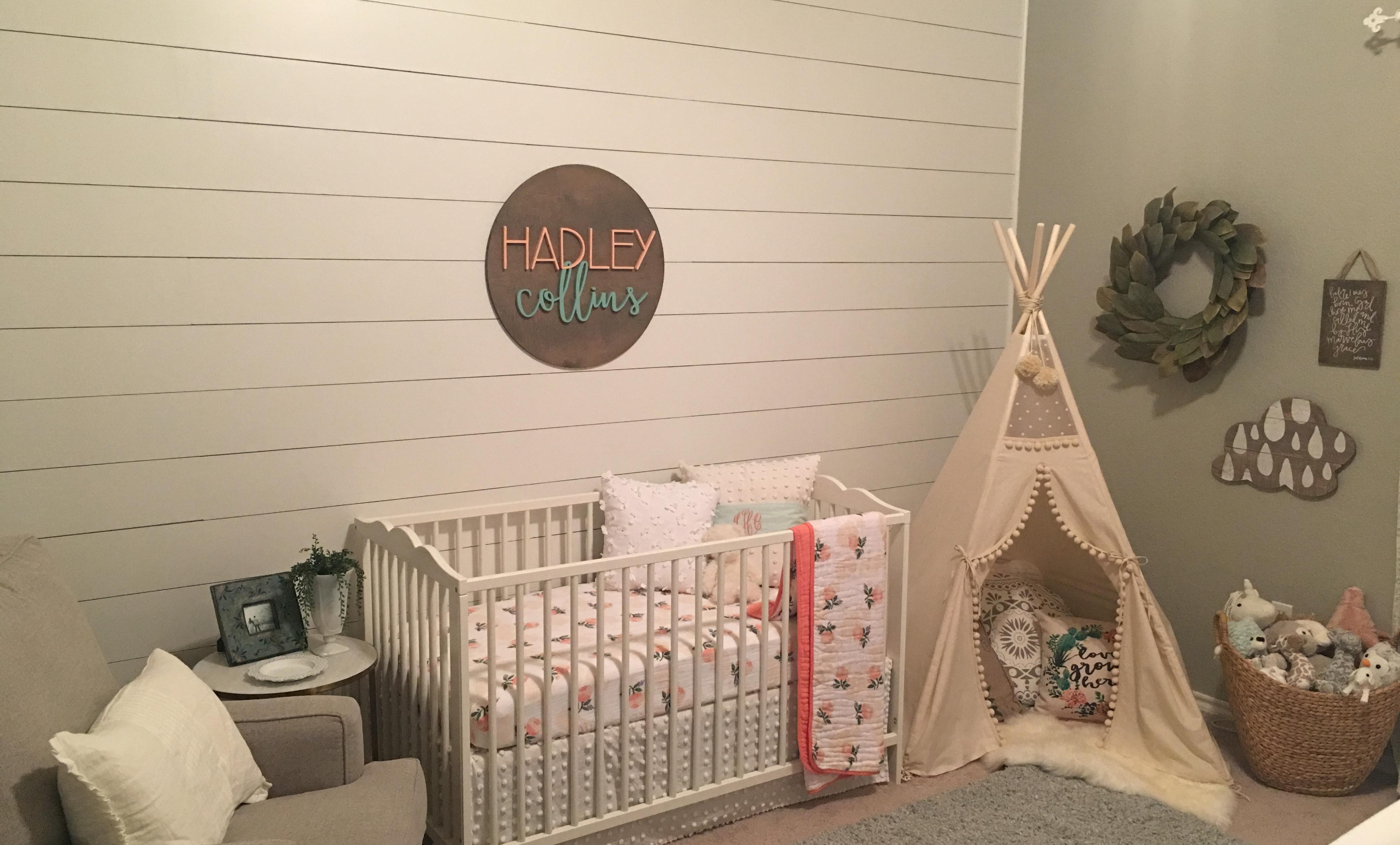Hadley S Serene Shiplap Nursery Project Nursery