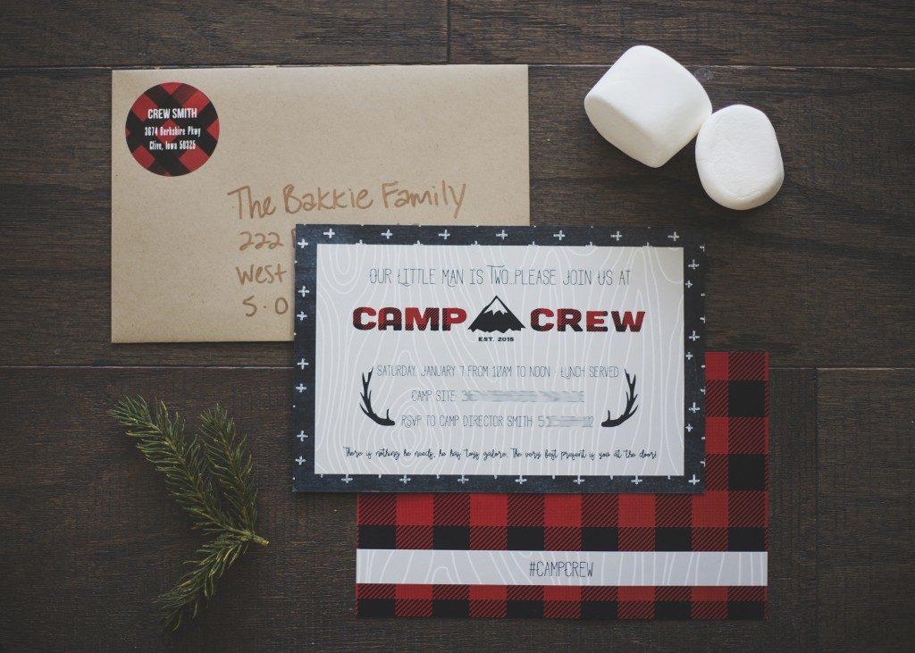 Camp Crew Second Birthday Party