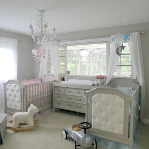 Boy Girl Twin Elegant Nursery Project Nursery