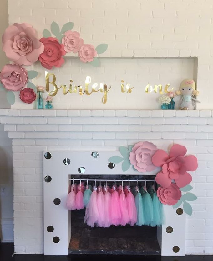 Brinley is One First Modern Floral Birthday - Project Nursery