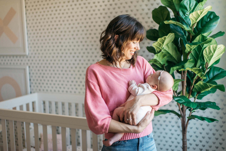 Pink and Gray Girl's Nursery