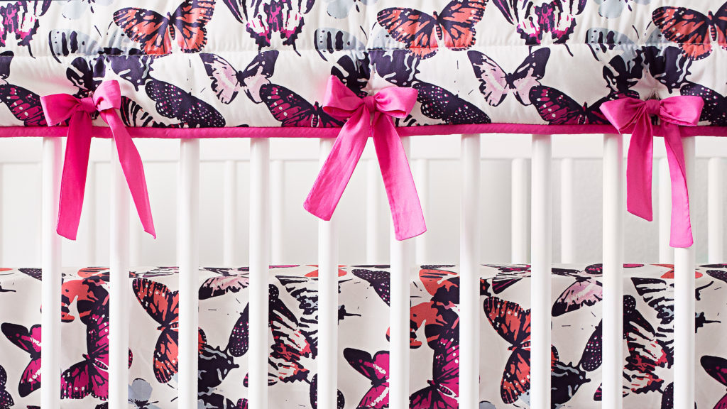 Project Nursery x Carousel Designs Butterfly Kisses Rail Cover