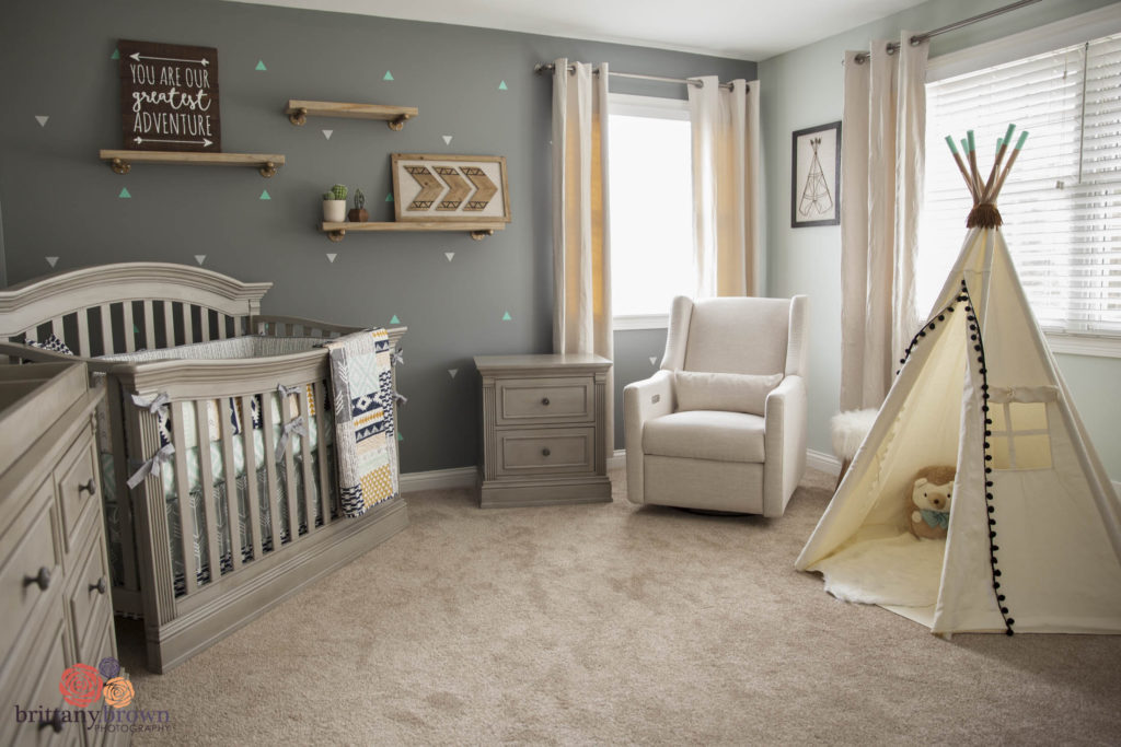beautiful gender neutral tribal aztec nursery project nursery. Black Bedroom Furniture Sets. Home Design Ideas
