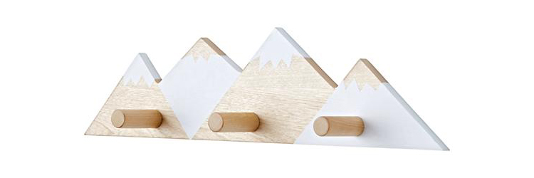 Mountain Range Wall Hook from The Land of Nod