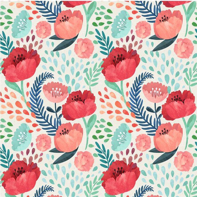 Crimson Poppy Mural Wallpaper - The Project Nursery Shop