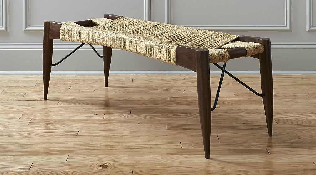 Bench from CB2 Woven Wood Bench