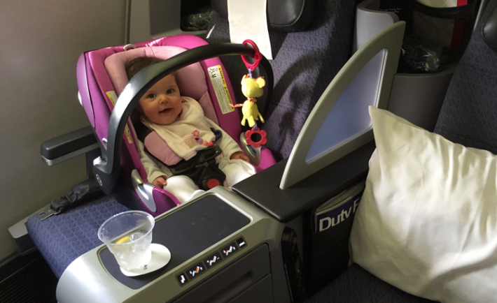 Baby Flying on Airplane