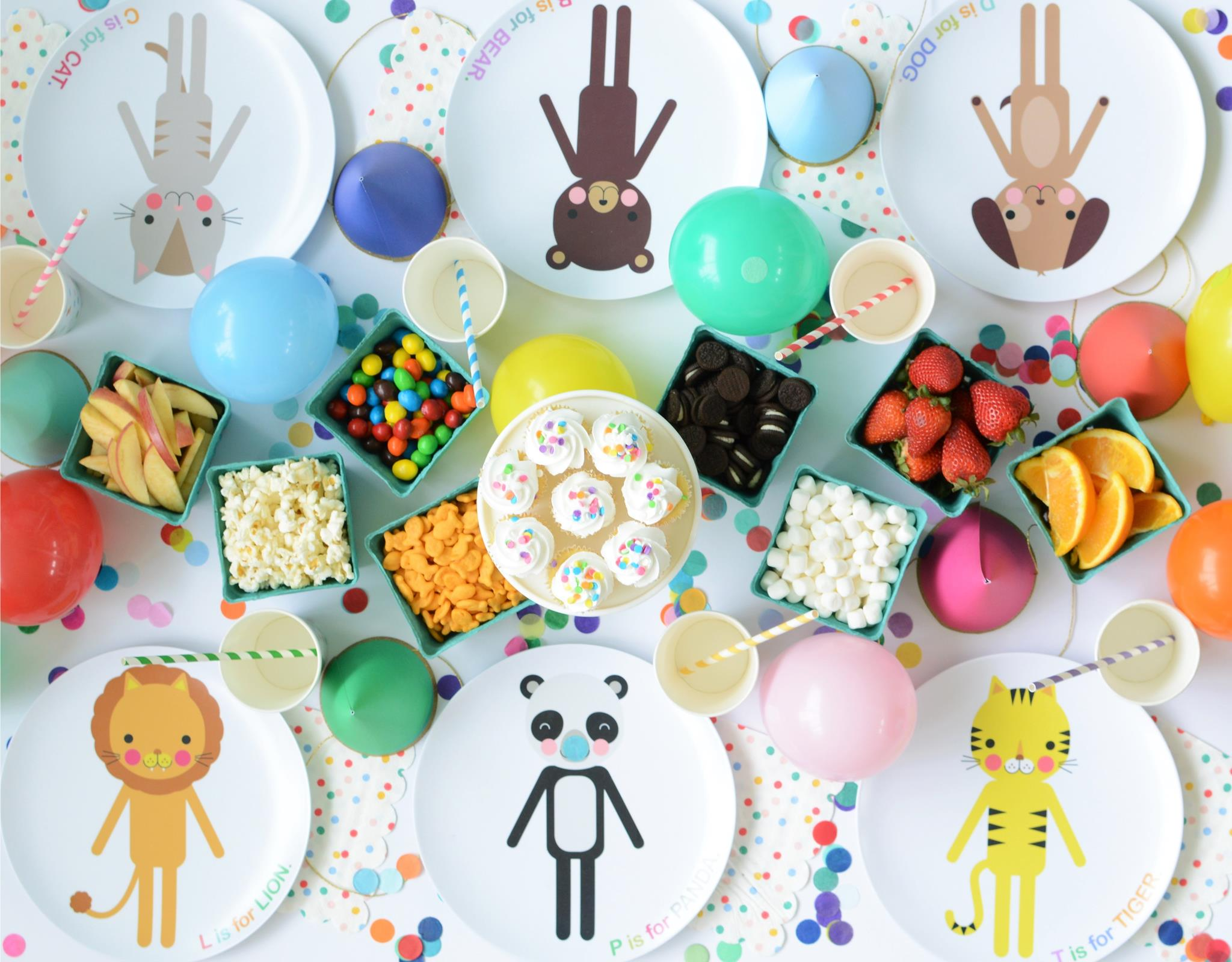 Wild Animal Party with Customizable Animal Plates