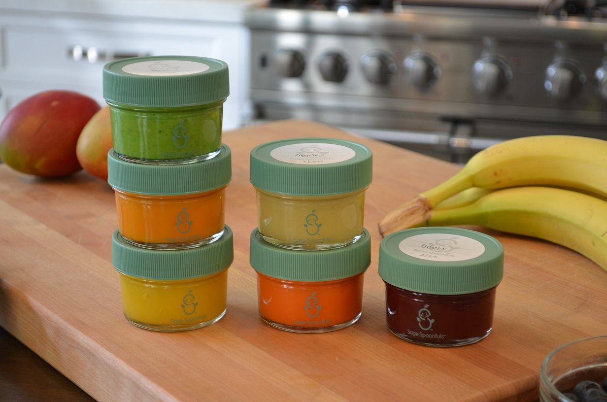 Sage Spoonfuls Glass Baby Food Storage Jars