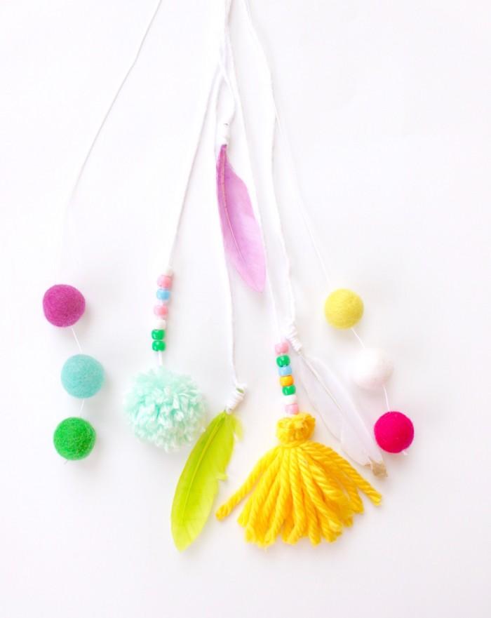 Feather, Pom-pom, Felt Ball Tassels