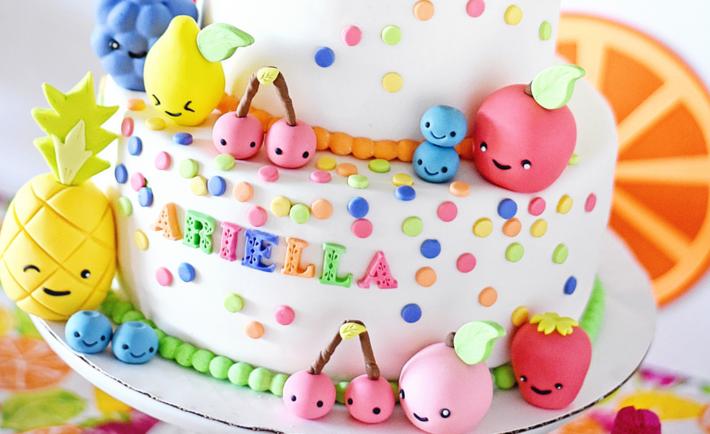 Tutti Frutti Kawaii Cake