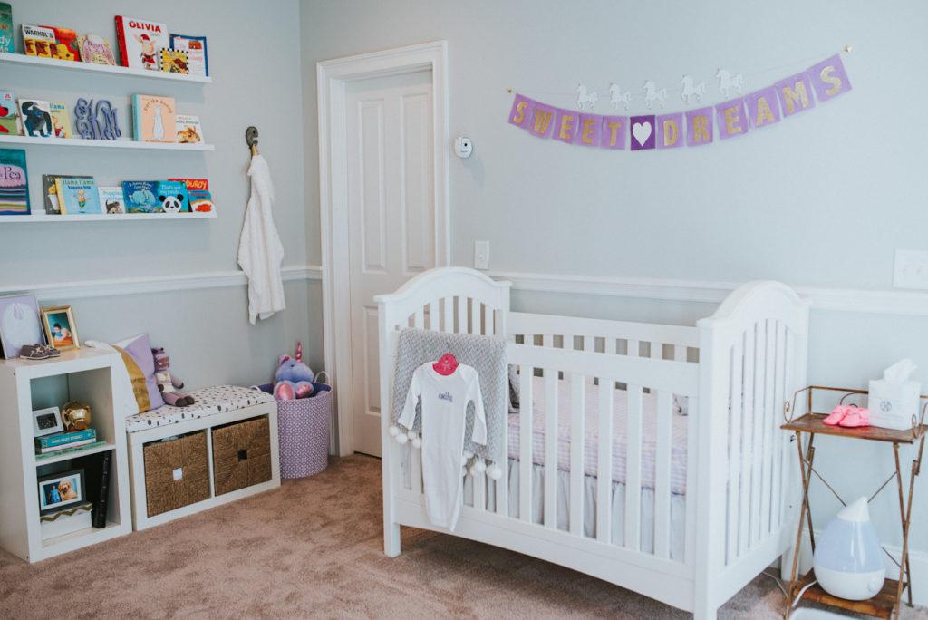 Lavender and Gray Unicorn Nursery