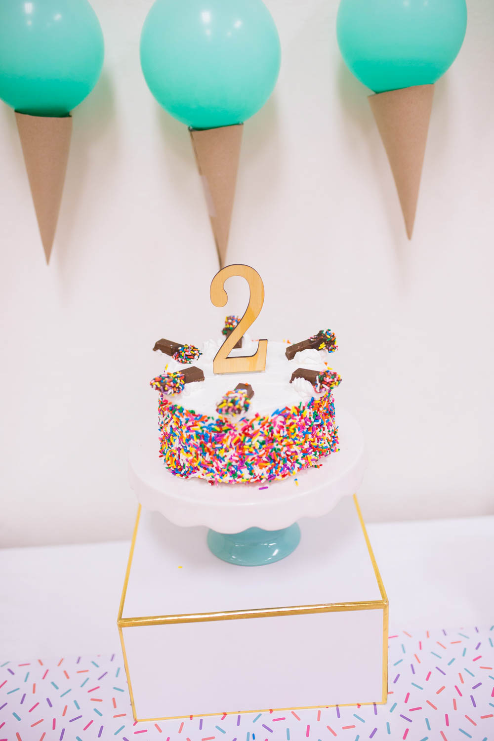 Sprinkle Covered Ice Cream Cake - Project Nursery