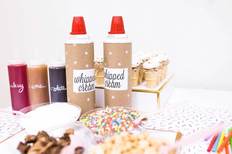 Ice Cream Sundae Bar Toppings - Project Nursery