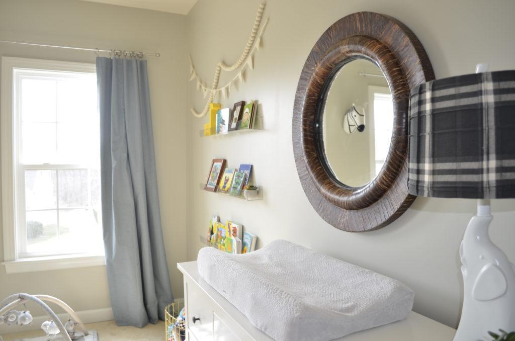 Modern Safari Nursery Changing Table and Bookshelves - Project Nursery