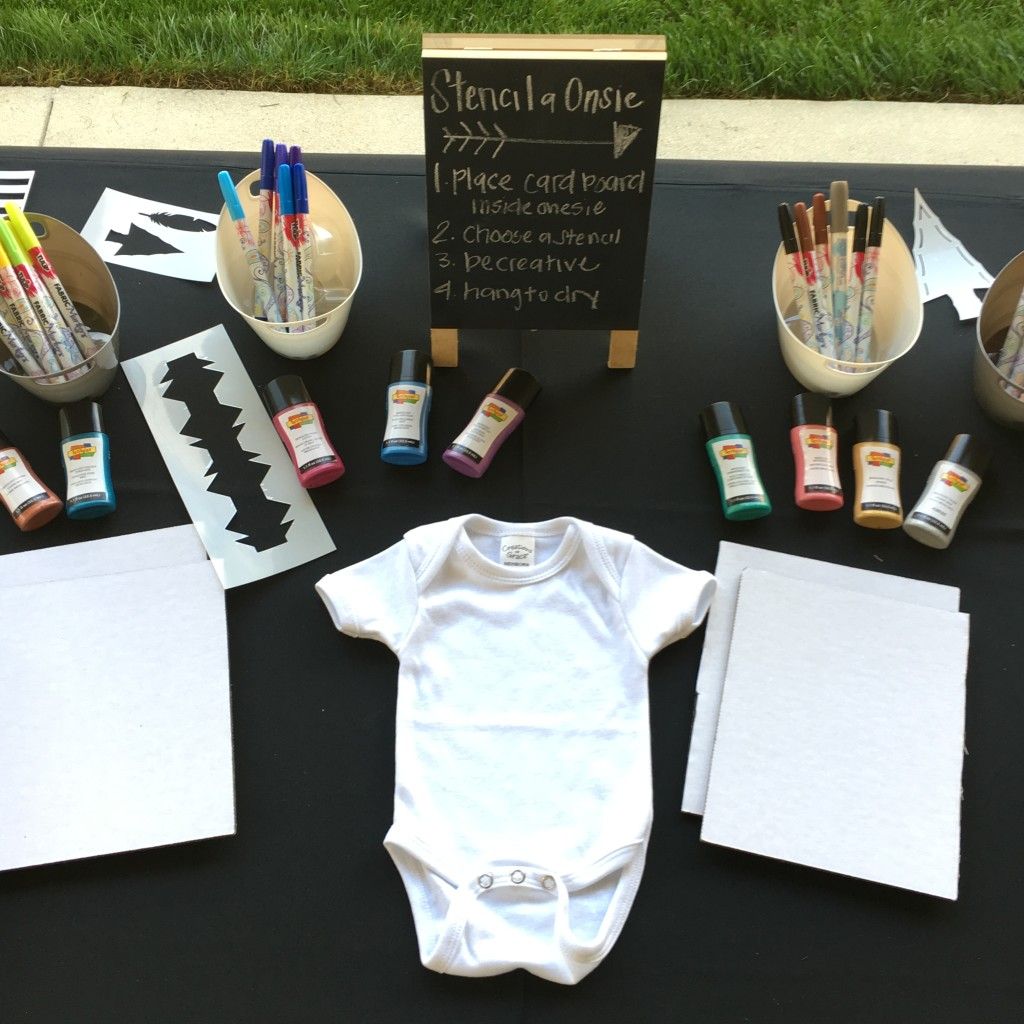 Stencil a Onesie Baby Shower Activity - Project Nursery