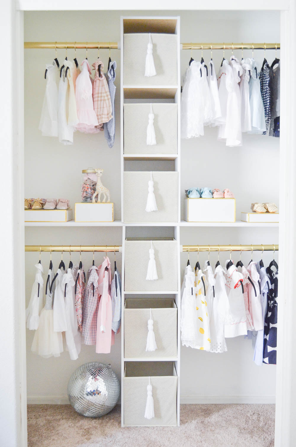 Glam Custom Nursery Closet on a Budget