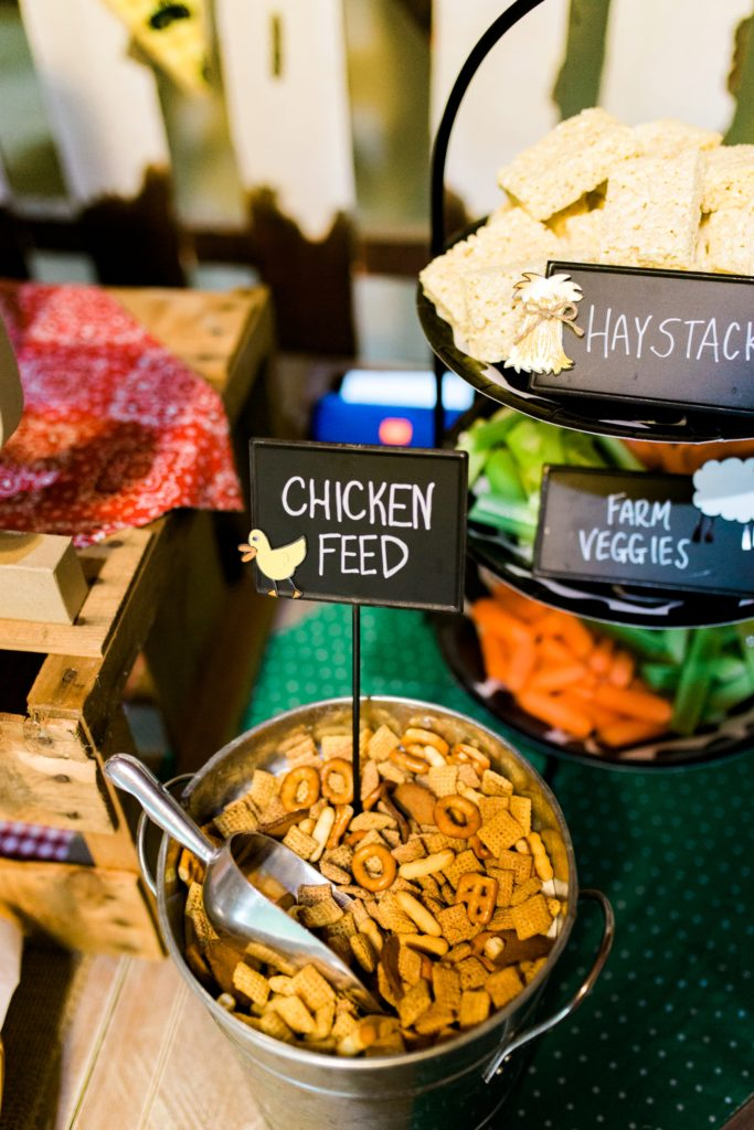 Barnyard Birthday Bash Chicken Feed Food Station - Project Nursery