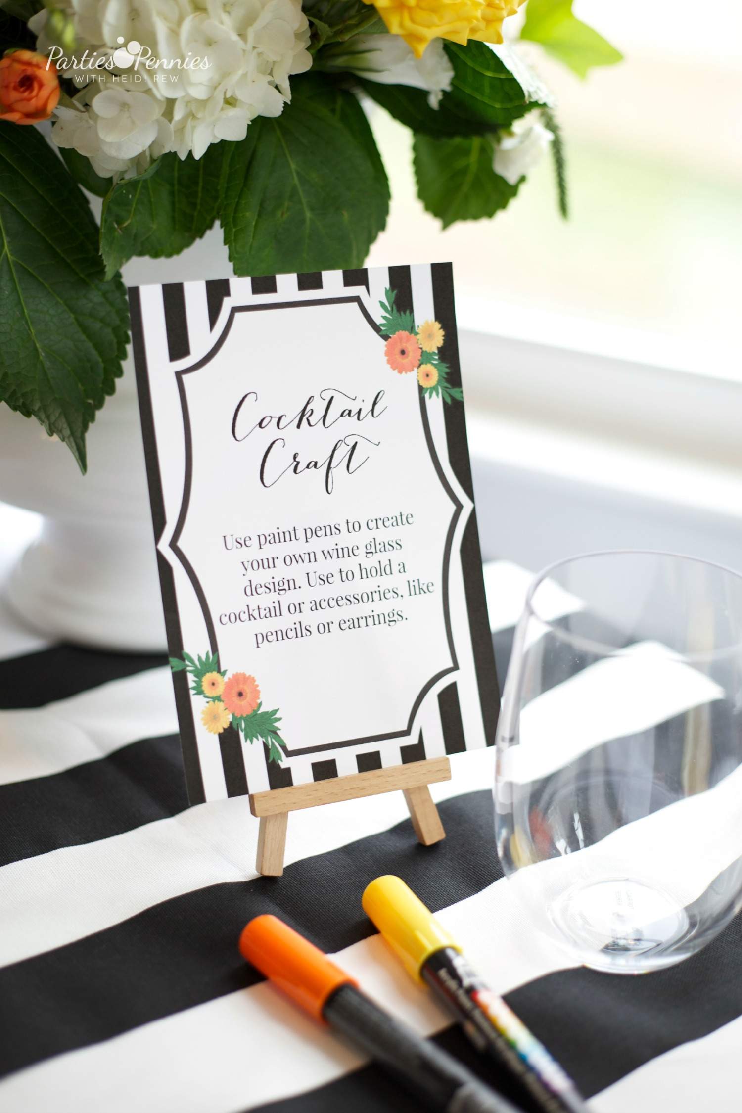 Design Your Own Mocktail Glass Baby Shower Activity - Project Nursery