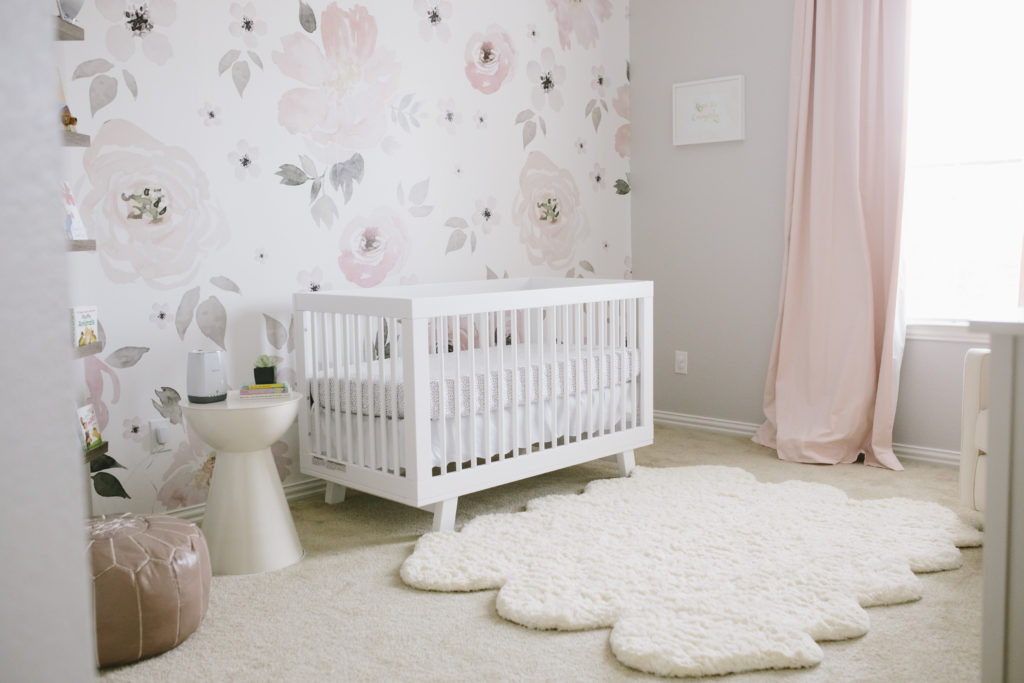 Jolie Mural In S Pink And Gray Nursery Project Harper Watercolor Fl Featuring Wallpaper
